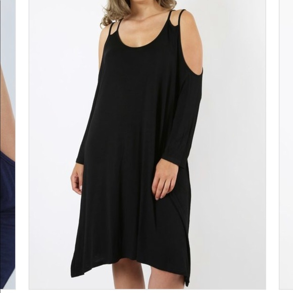 Plus Size Black Midi Dress